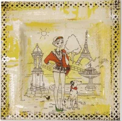 mini kit la parisienne au dalmatien peinture sous verre dentelle gartavous