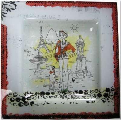 la parisienne au dalmatien niveau 3 dentelle peinture sur verre gartavous
