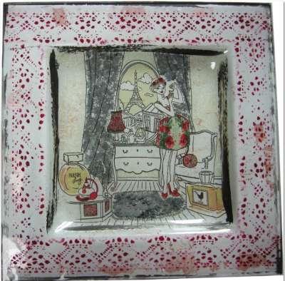 kit la parisienne au parfum avec fiche technique personnalisée et dentelle peinture sur verre gartavous