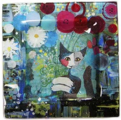 le bouquet de rosina kit de peinture sous verre niveau 3 gartavous