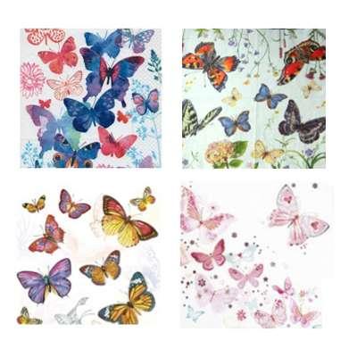 serviettes en papier papillons gartavous
