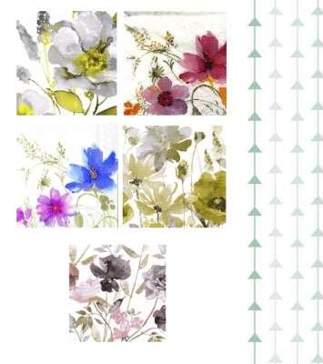 serviettes en papier fleurs aquarelles gartavous
