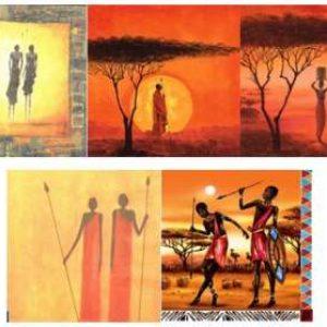 Serviettes Afrique Masaï