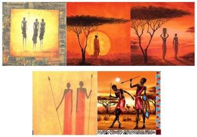 serviettes en papier afrique masaï gartavous
