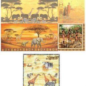 Serviettes Afrique animaux