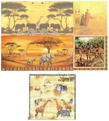 serviettes en papier afrique animaux gartavous