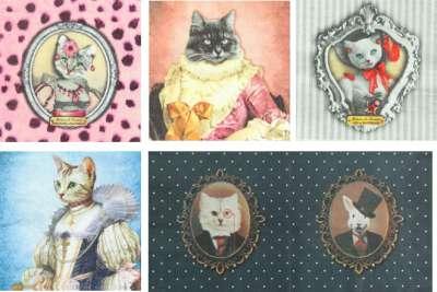 serviettes en papier animaux baroques nobles gartavous