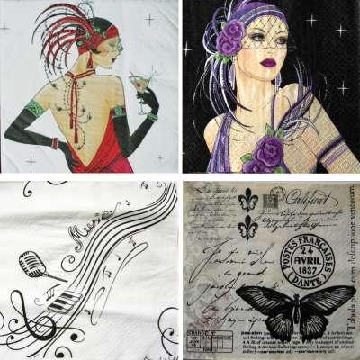 serviettes en papier femmes cabaret précieuses rares gartavous