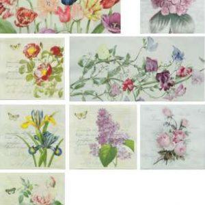 Serviettes Fleurs