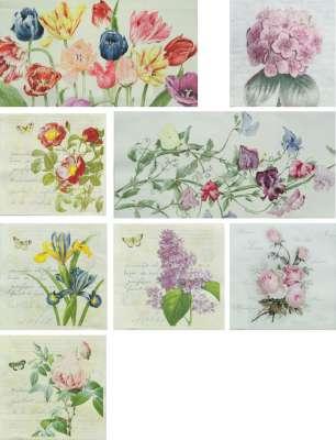 serviettes en papier fleurs romantiques gartavous