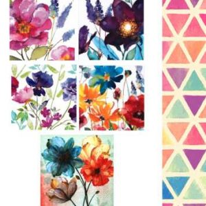 Serviettes Aquarelles Colorées