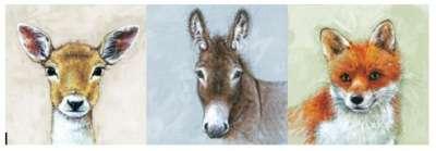 serviettes en papier les animaux trois compères gartavous