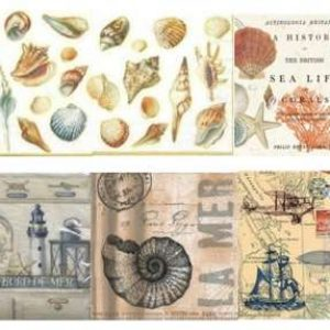 Serviettes Mer et Coquillages