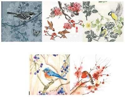 serviettes en paier les oiseaux gartavous