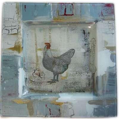 Kit peinture sous verre sa majesté la poule gartavous