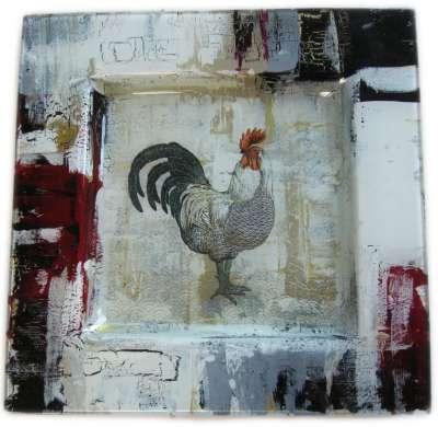 kit peinture sur verre sa majesté le coq gartavous