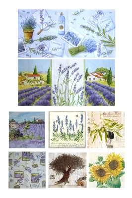 serviettes en papier la Provence gartavous