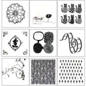 "Serviettes ""Textures"" en N§B"