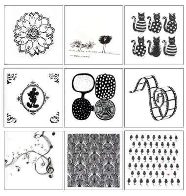serviettes en papier texturées noir et blanc accessoires gartavous