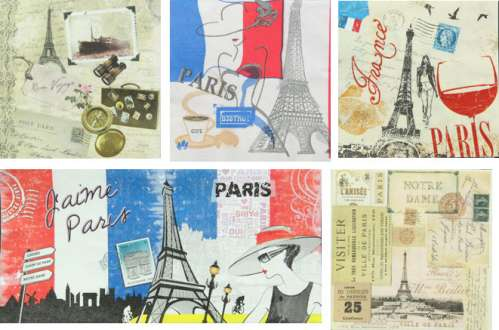 serviettes en papier paris lot 3 gartavous