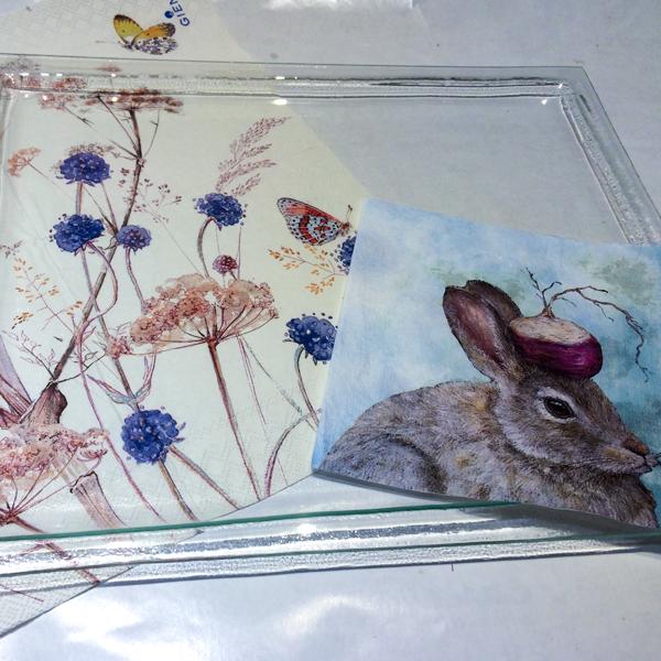 kit petits pas complet peinture sous verre lapin et radis materiel gartavous