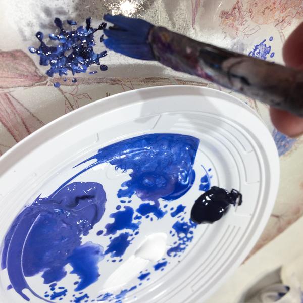 kit petits pas complet peinture sous verre lapin et radis peinture gartavous