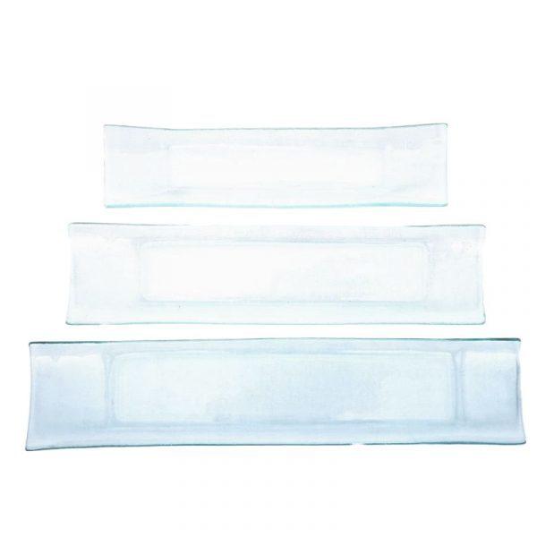 Plats à verrines en verre à décorer en 3 dimensions