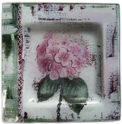 kit peinture sur verre l'hortensia gartavous