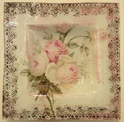mini kit les roses peinture sur verre dentelle gartavous