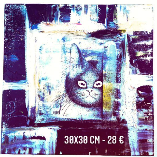 Plat décoré à vendre Dubout la tête peinture sur verre émaillée gartavous