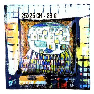 "Assiette décorée ""Hundertwasser 1"""
