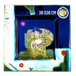 """Plat décoré """"Klimt - Melle Adèle"""""""