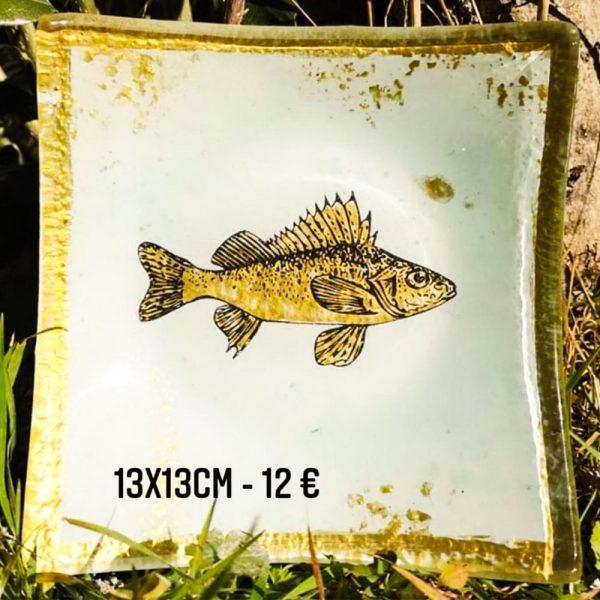 assiette décorée à vendre peinture sur verre feuille d'or gartavous