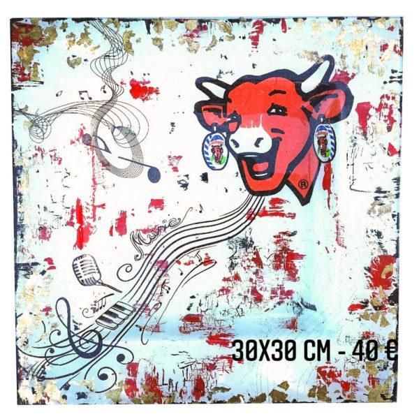 la vache qui rit blanche peinture sur verre gartavous