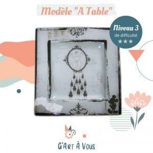 """Fiche Technique""""A table"""" Niveau 3"""