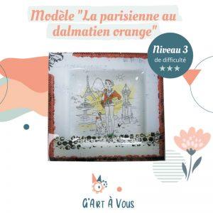 """Fiche Technique""""La Parisienne au Dalmatien"""" Orange - Niveau 2-3"""