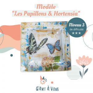 """Fiche Technique""""Papillons et hortensia"""" Niveau 2-3"""