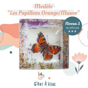 """Fiche Technique""""Le Papillon Orange et Mauve"""" Niveau 2-3"""