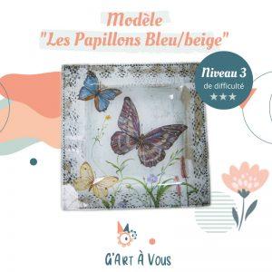 """Fiche Technique""""Les Papillons Bleus et Beige"""" Niveau 2-3"""