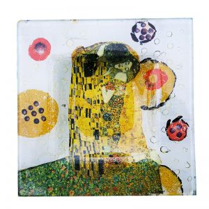 """Assiette décorée """"Klimt"""""""