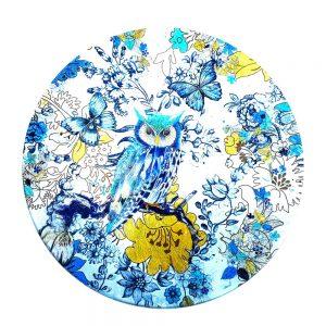 """Assiette Intuitive """"La Chouette Bleue et le Scarabée"""""""