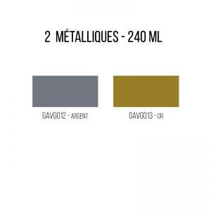 Peinture métallique sur verre émaillée - 240 ml