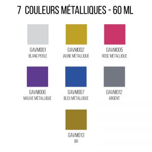 Peinture métallique sur verre émaillée - 60 ml